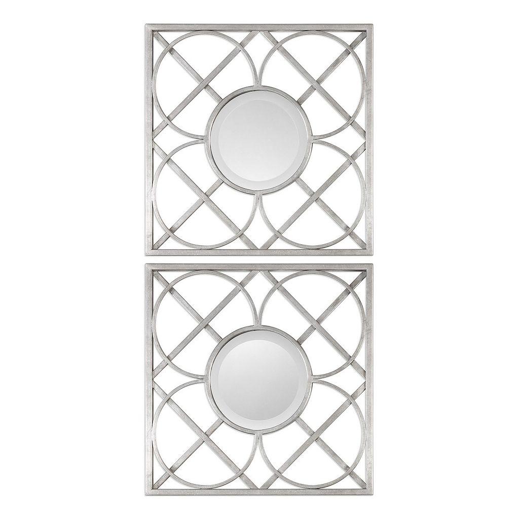 Yasmina Square Geometric Wall Mirror 2-piece Set