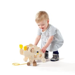 My Pal Elly Wooden Toddler Pull Along Activity Toy by Manhattan Toy