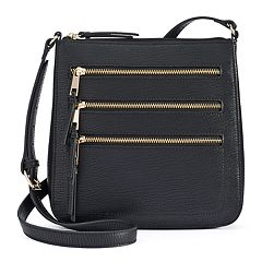 Apt. 9® Robin Triple Zipper Crossbody Bag