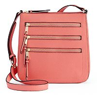 Apt. 9® Robin Triple Zipper Crossbody Bag