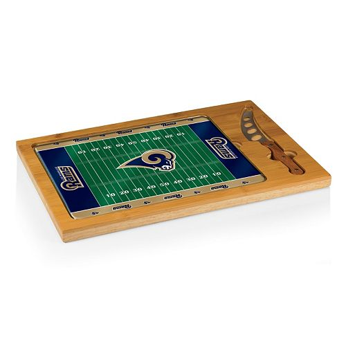 Picnic Time Los Angeles Rams Icon Cutting Board Gift Set