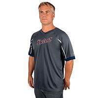 Men's Majestic Detroit Tigers Intense V-Neck Top