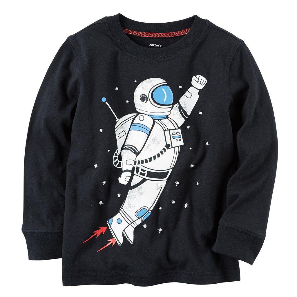 Boys 4-8 Carter's Long Sleeve Astronaut Graphic Tee