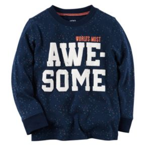 """Boys 4-8 Carter's """"World's Most Awesome"""" Graphic Tee"""