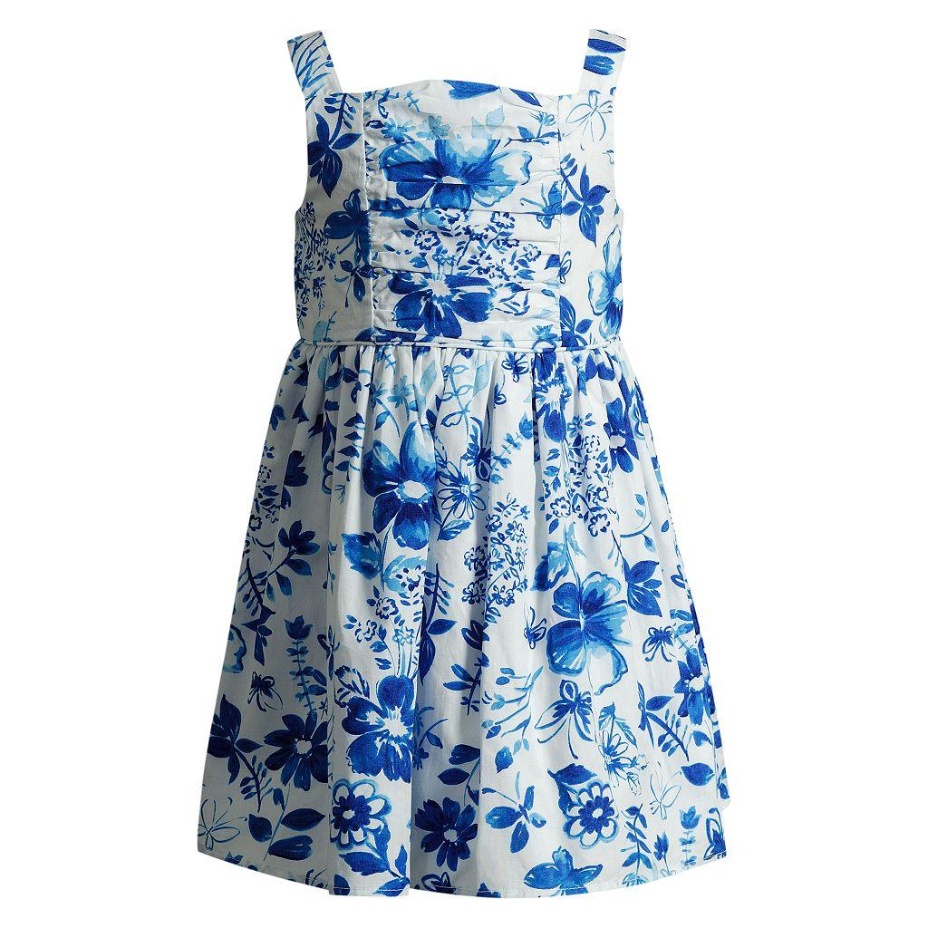 Girls 4-6x Youngland Floral Poplin Woven Sundress