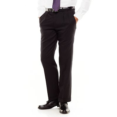 Chaps Wool Pleated Suit Pants