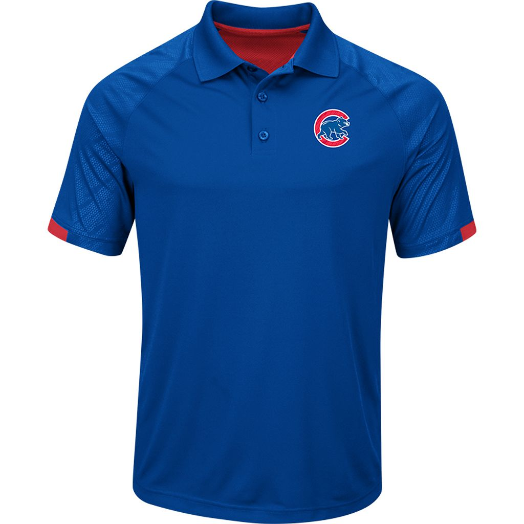 Men's Majestic Chicago Cubs Outburst Polo