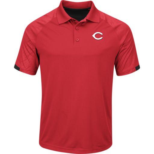 Men's Majestic Cincinnati Reds Outburst Polo