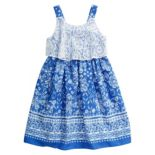 Girls 4-6x Youngland Floral Sleeveless Lace Popover Sundress
