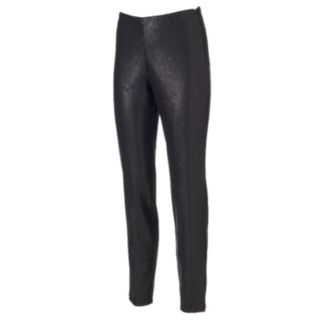Women's WDNY Black Pull-On Sequin Leggings
