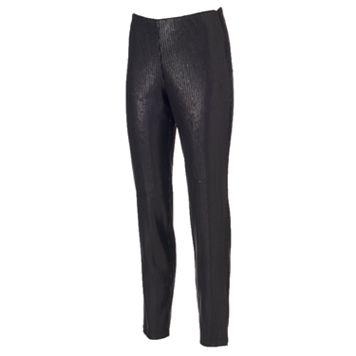 Women's WDNY Black Pull-On Sequin Leggings