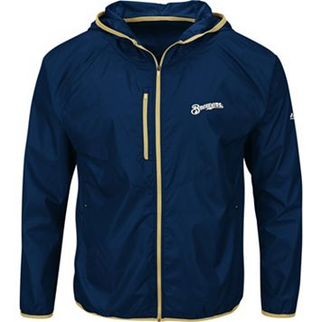 Men's Majestic Milwaukee Brewers Weakness is a Choice Jacket
