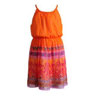 Girls 4-6x Youngland Woven Border Print Dress