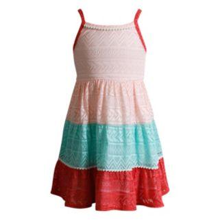 Girls 4-6x Youngland Crochet Tiered Dress