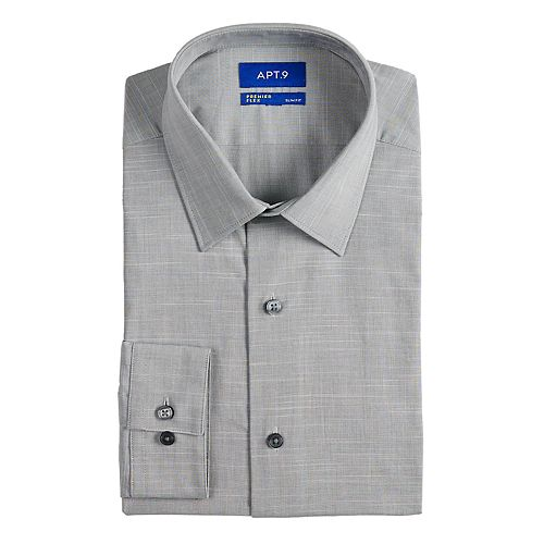 Men's Apt  9® Slim-Fit Premier Flex Collar Stretch Dress Shirt