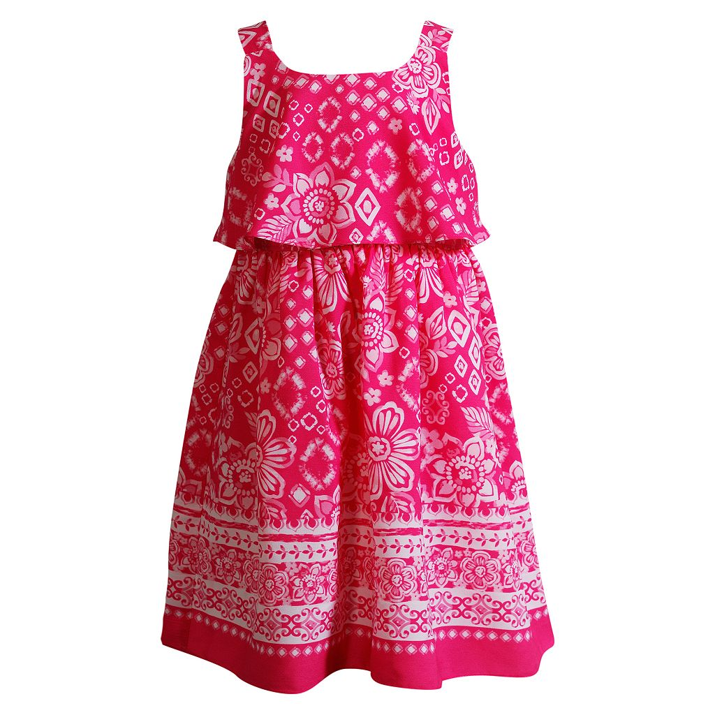 Girls 4-6x Youngland Floral Sleeveless Popover Sundress