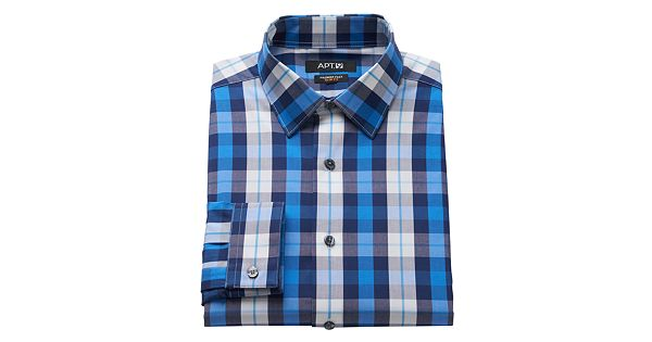 Men 39 s apt 9 slim fit flex collar dress shirt for Apartment 9 dress shirts