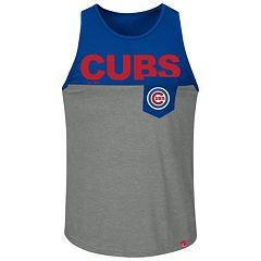 Men's Majestic Chicago Cubs Throw the Towel Tank Top