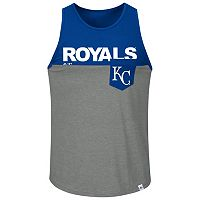 Men's Majestic Kansas City Royals Throw the Towel Tank Top