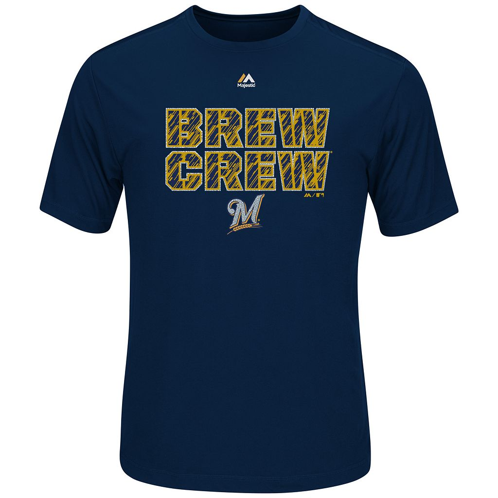 Men's Majestic Milwaukee Brewers Our History Tee