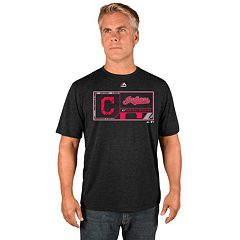 Men's Majestic Cleveland Indians Division Dominator Synthetic Tee