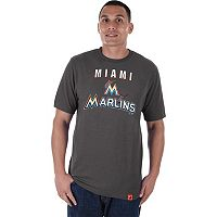 Men's Majestic Miami Marlins Stoked Tee