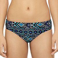 Juniors' Hot Water Geometric Cheeky Bikini Bottoms