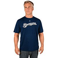 Men's Majestic Milwaukee Brewers Synthetic Wordmark Tee