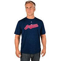Men's Majestic Cleveland Indians Synthetic Wordmark Tee