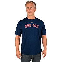 Men's Majestic Boston Red Sox Synthetic Wordmark Tee