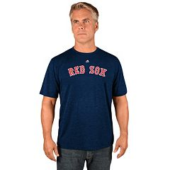 Men's Majestic Boston Red Sox Synthetic Wordmark Tee