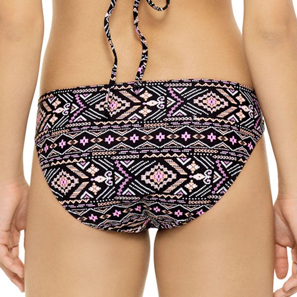 Juniors' Hot Water Geometric Cutout Hipster Bikini Bottoms