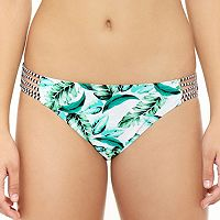 Juniors' Hot Water Leaf Strappy Bikini Bottoms
