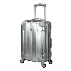 Travelers Club Polaris 20-Inch Metallic Hardside Spinner Carry-On Luggage