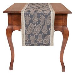 KAF HOME Paisley Jacquard Table Runner - 90'
