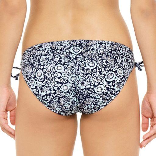 Juniors' Hot Water Floral Hipster Bikini Bottoms