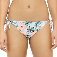 Juniors' Hot Water Floral Hipster Bikini Bottoms