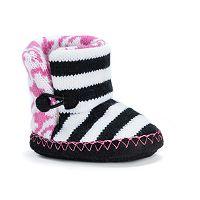 MUK LUKS Baby Bootie Slippers