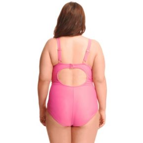 Plus Size Paramour Underwire Mesh-Side One-Piece Swimsuit
