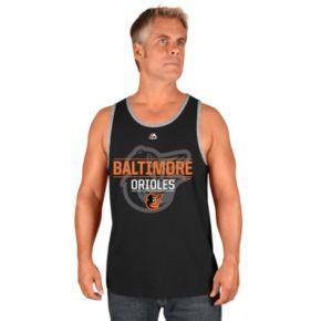 Men's Majestic Baltimore Orioles Home Turf Advantage Tank Top