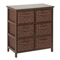 Honey-Can-Do Woven 6-Drawer Chest