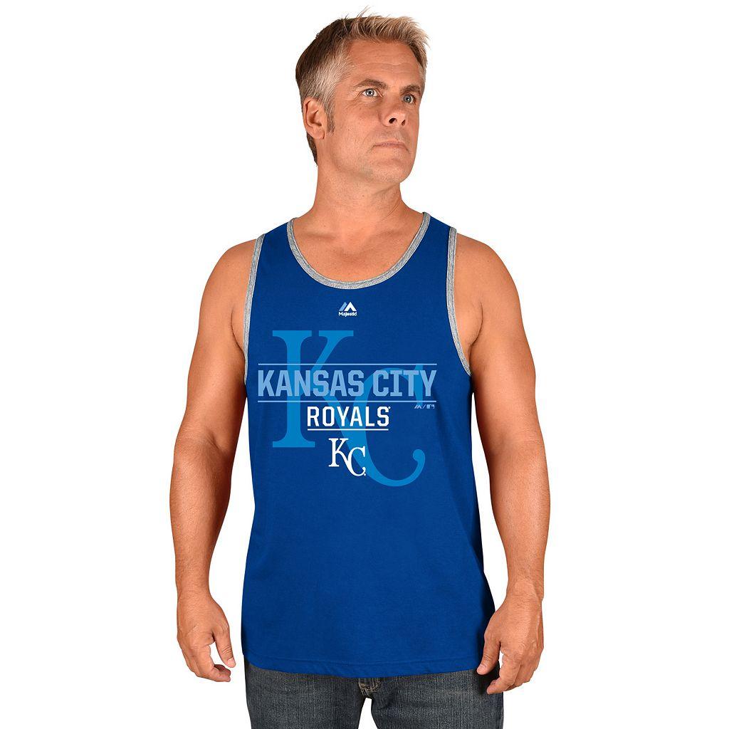 Men's Majestic Kansas City Royals Home Turf Advantage Tank Top