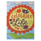 "Evergreen Enterprises ""Celebrate Life"" Indoor / Outdoor Garden Flag"
