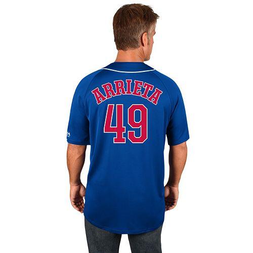 db477d3df Men's Majestic Chicago Cubs Jake Arrieta Jersey