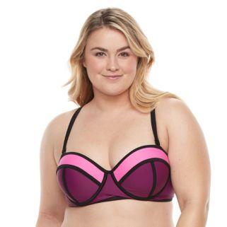 Plus Size Paramour Underwire Bralette Swim Top