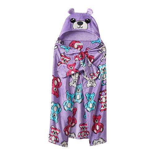 Girls 4-16 Komar Animal Hooded Fleece Wrap