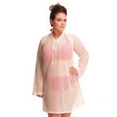 Plus Size Paramour Crocheted Lace-Up Cover-Up