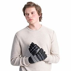 Men's MUK LUKS Striped Texting Gloves