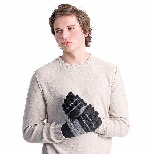Men's MUK LUKS Striped Texting Gloves