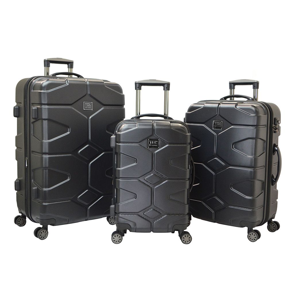 Travelers Club Axel 3-Piece Hardside Dual Spinner Luggage Set